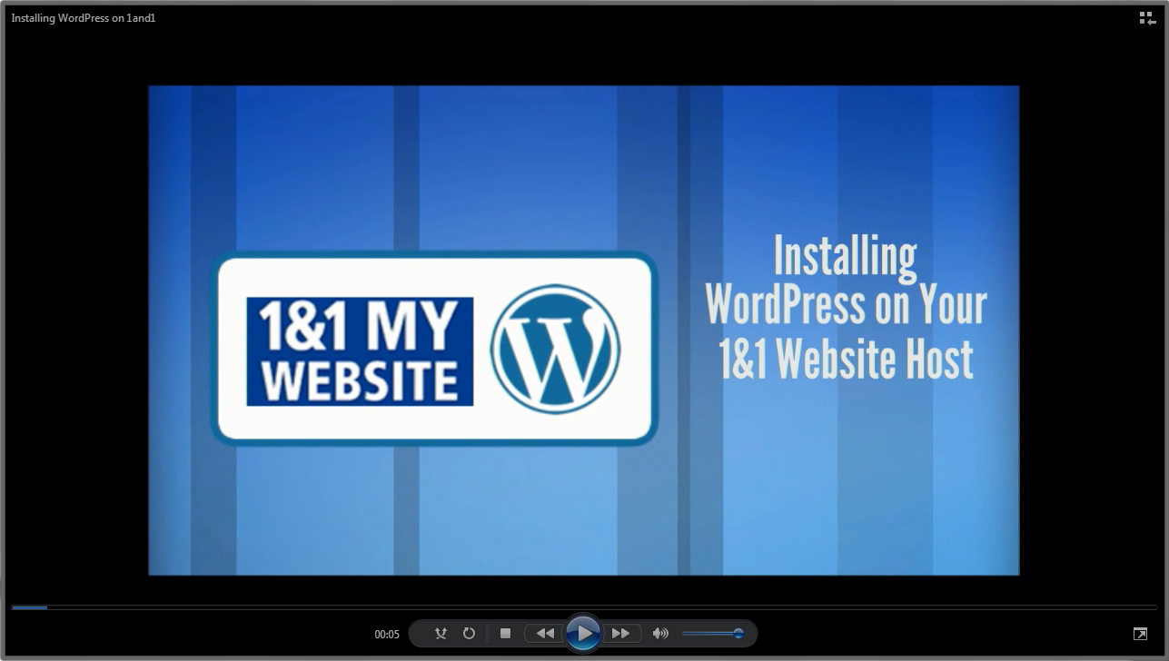 Installing WordPress on 1&1