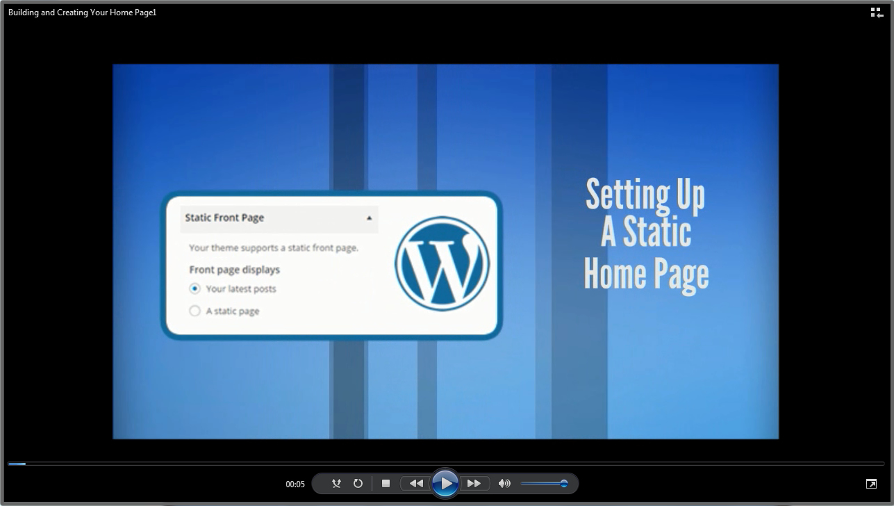 Setting up a Static Home Page