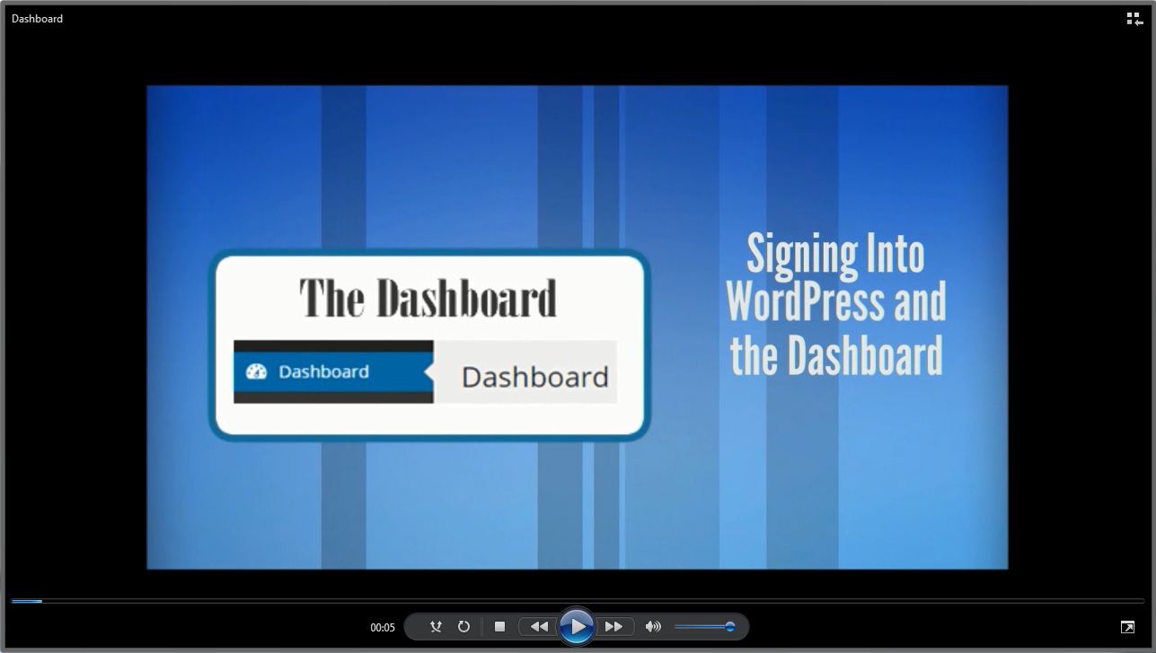 Signing Into the WordPress Dashboard