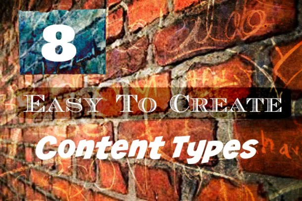 8 Easy to Create Content Types